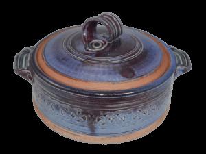 Lidded casserole - purple