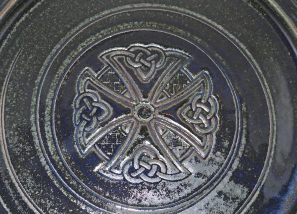 Platter - Green - Calvary Cross