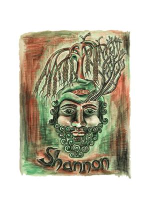 Shannon River God Of Ireland Artwork