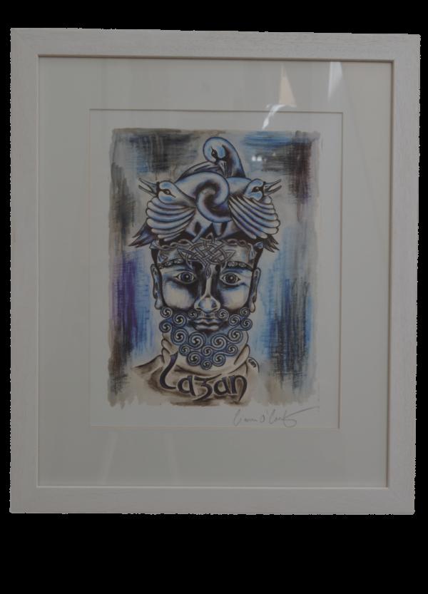 Lagan River God Framed Print